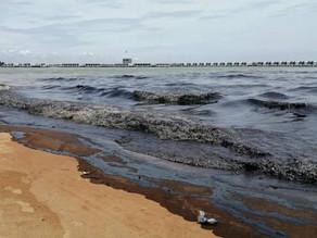 Tumpahan minyak: Kerja pembersihan Pantai Cermin dan Tanjung Tuan diaktifkan