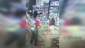 Dua polis ditahan mencuri