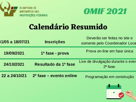 Participe da Olimpíada de Matemática das Instituições Federais (OMIF)