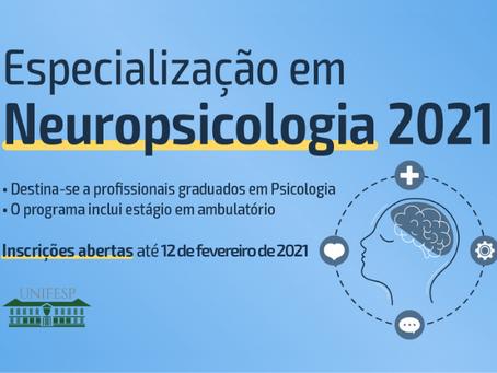 Curso de especialização em Neuropsicologia | UNIFESP