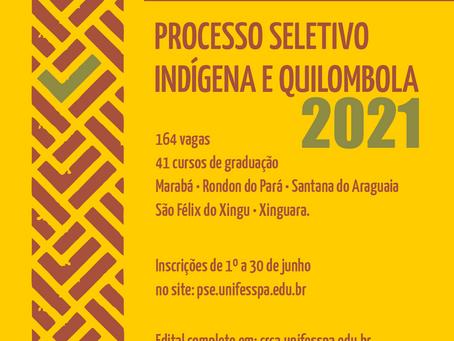Unifesspa lança processo seletivo para ingresso de indígenas e quilombolas em cursos de graduação