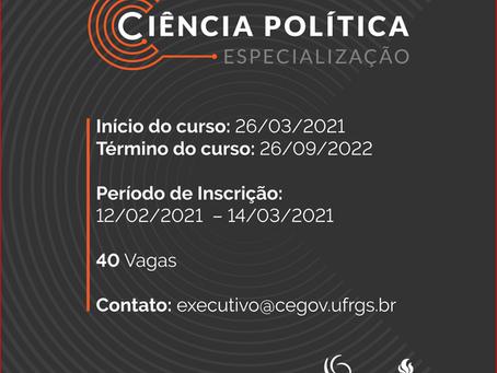 UFRGS oferece curso de especialização em Ciência Política