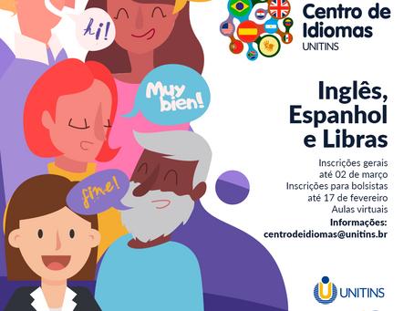 Unitins lança edital com 320 vagas para Centro de Idiomas e oportunidade de bolsas para alunos
