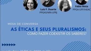 "UFF | ""As éticas e seus pluralismos: como fazer coexistir os saberes?"" (mesa de conversa)"