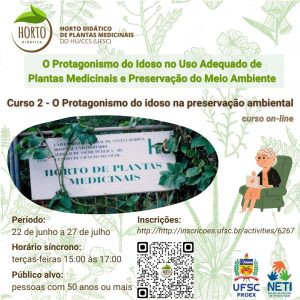 Abertas inscrições para curso on-line 'O protagonismo do idoso na preservação ambiental' | UFSC
