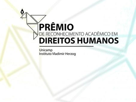 Prêmio para pesquisas das universidades estaduais paulistas que contribuem com os Direitos Humanos