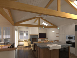 Hollister Avenue Cottage Interior Rendering