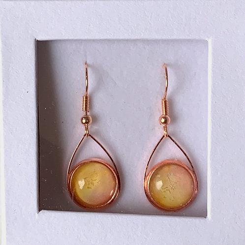 Teardrop Earrings, Rose Gold