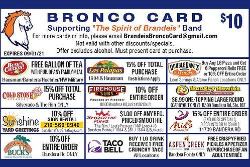 Bronco Card