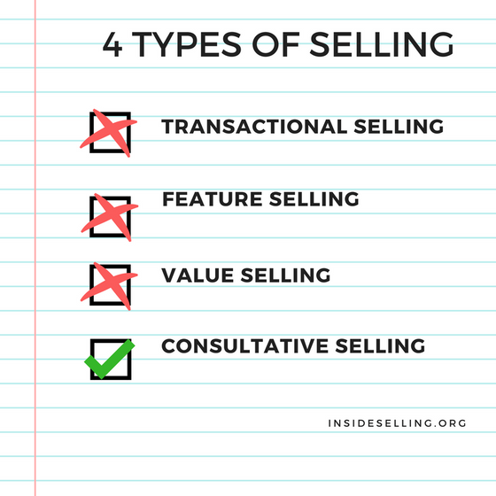 4 types of selling. What type of seller are you?