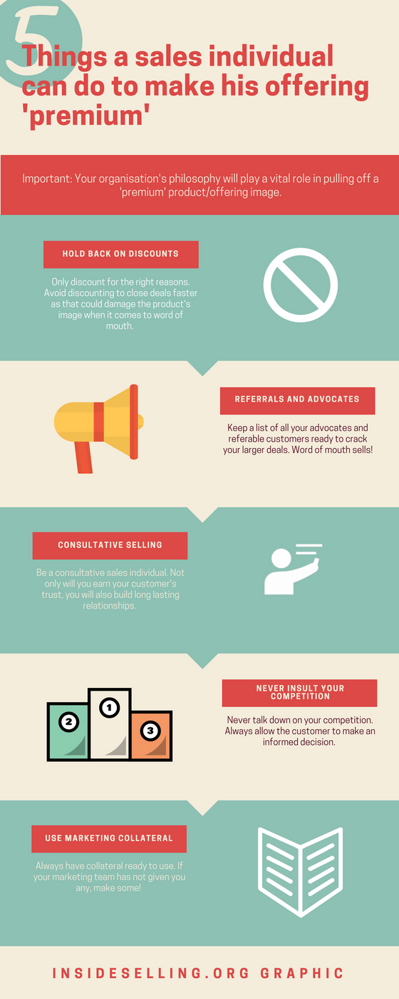 5 things you can do to add a premium feel to your sales offering (infographic)