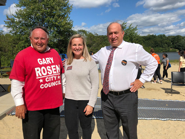 Laura with City Councilors at Large Moe Bergman and Gary Rosen