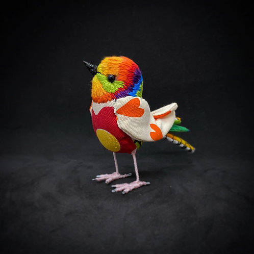 Valentines Bird Rainbow
