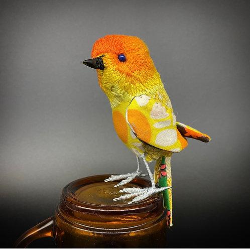 Yellow Madeup Bird