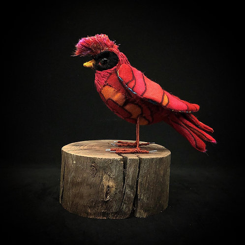 Cardinal Bird - Faux Taxidermy