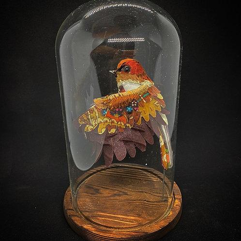 Flying Sparrow in Bell Jar