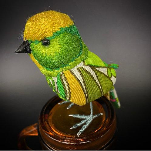 Green Madeup Bird