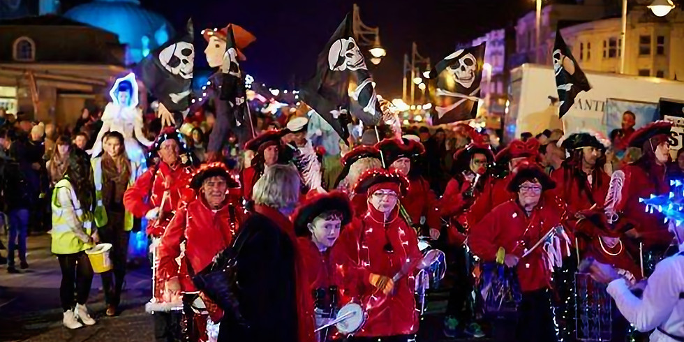 Worthing  Lions Bonfire night - Out with the best samba dancers around