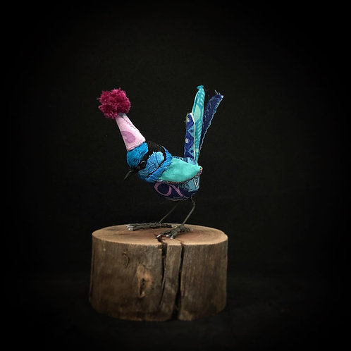 Party Fairy Wren - Faux Taxidermy