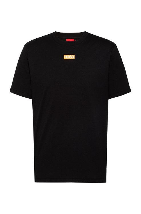 T-shirt Regular Fit en coton biologique avec logo centré HUGO Modèle Durned212 - 50448779