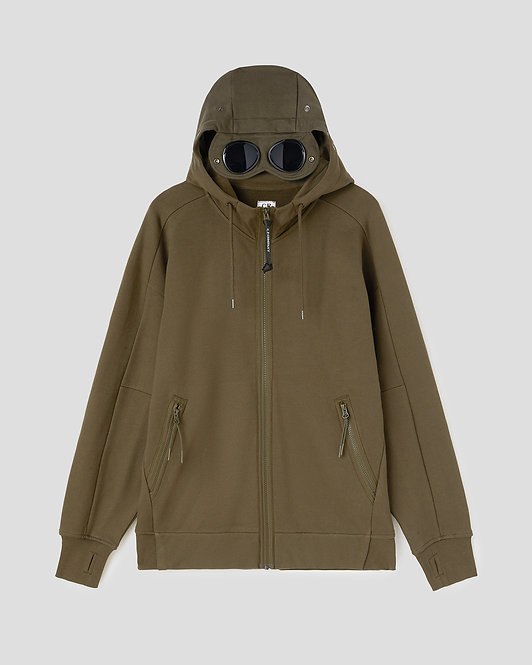 SWEATSHIRT CP COMPANY Diagonal Raised Fleece Full Zip Goggle Hoodie 09CMSS009A005086W683