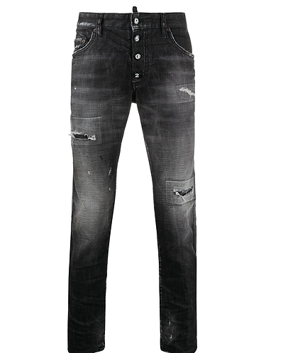 Black Wash Skater Jeans dsquared2 S74LB0784 S30357 900