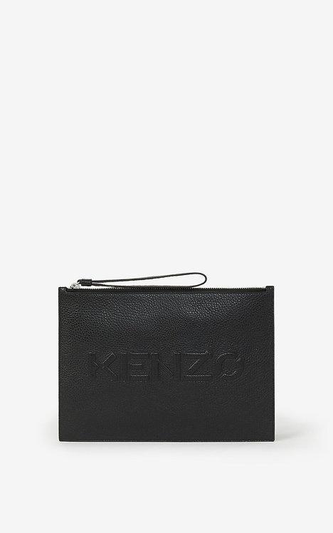 Grande pochette KENZO Imprint en cuir grainé FA65PM502L45.99.TU