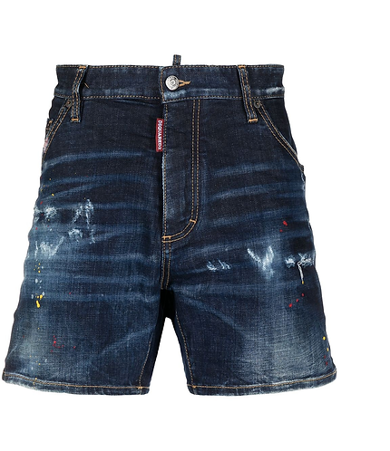 dsquared2 Dark 1 Wash Dan Commando Denim Shorts S74MU0649S30664470