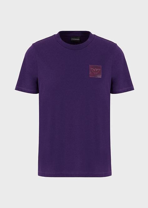 T-shirt emporio armani en jersey avec écusson aigle plastifié 3H1T631J89Z10832