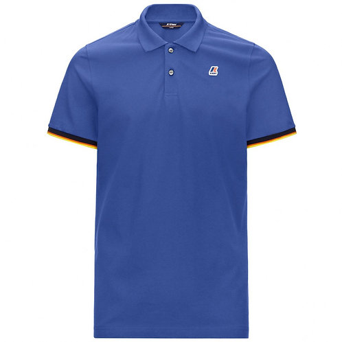 KWAY VINCENT CONTRAST POLO BLUE ROYAL MARINE K008J50-741