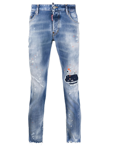 Trash Light Wash Skater Jeans dsquared2 S74LB0807S30708470