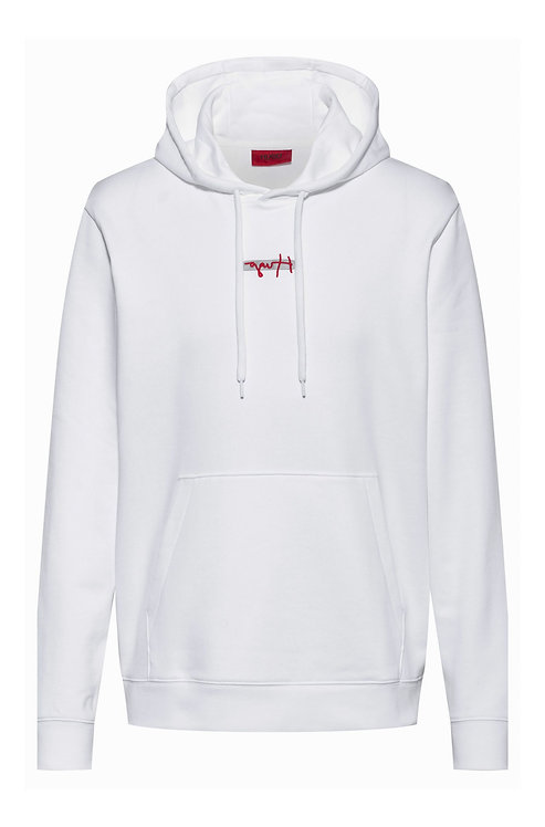 Sweat à capuche en molleton avec logo brodé de la nouvelle saison HUGO Modèle Doley - 50443805