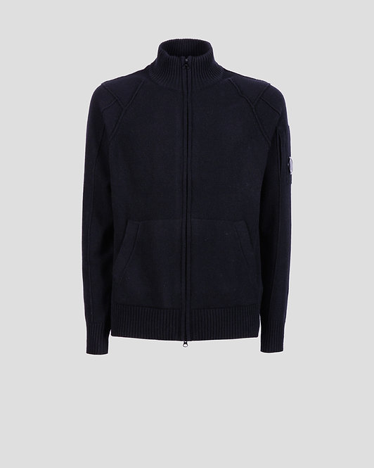 gilet cp company Lambswool Full Zip Knit 11CMKN090A005504A999