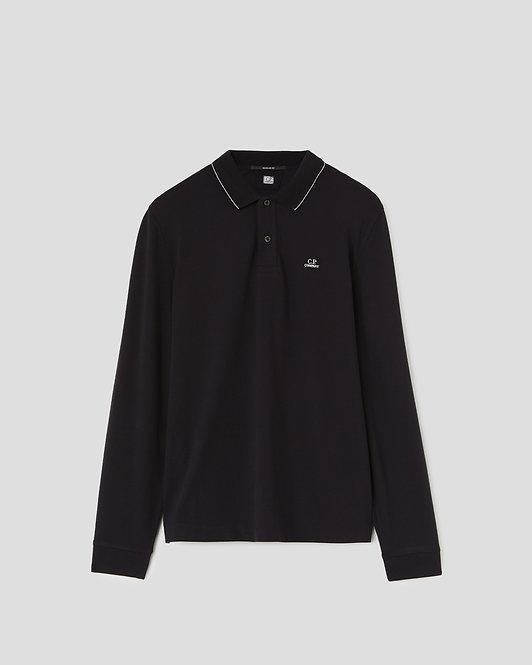 polo manches longues cp company Stretch Piquet Long Sleeve Logo Polo Shirt 10CMPL066A005263W999
