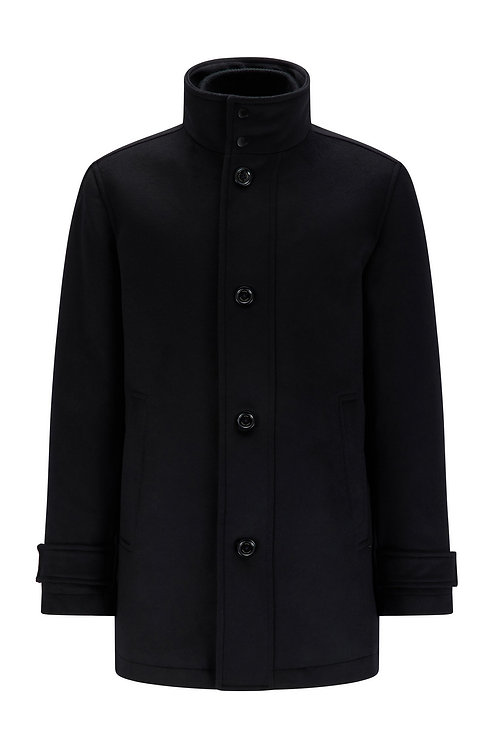 MANTEAU HUGO BOSS MODÈLE COXTAN11 - 50455402 Manteau Regular Fit en laine mélangée avec plastron intérieur AMOVIBLE