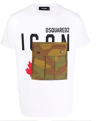 tshirt dsquared2 Icon Cargo Pocket T - Shirt S79GC0032S20694100