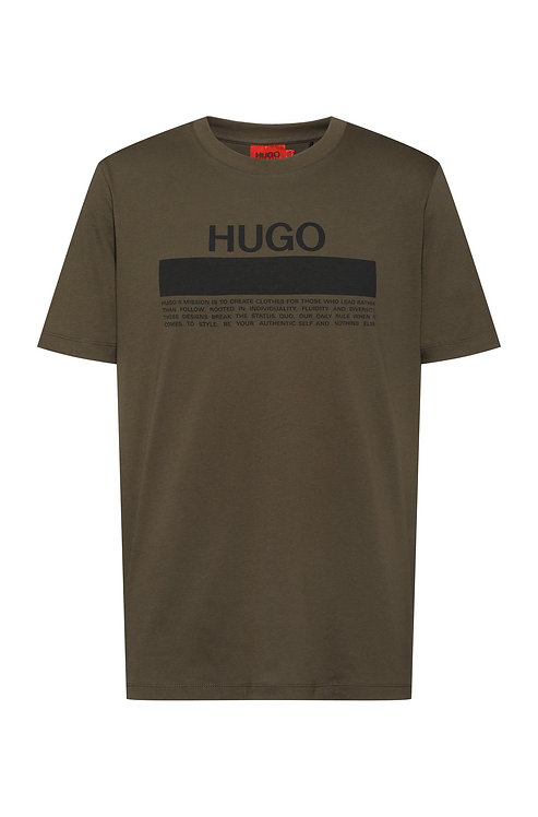 hugo T-shirt en jersey de coton avec imprimé logo à message MODÈLE DAITAI - 50457125