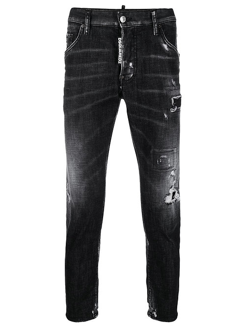 Black Worked Skater Jeans dsquared2 S74LB0586 S30357 900