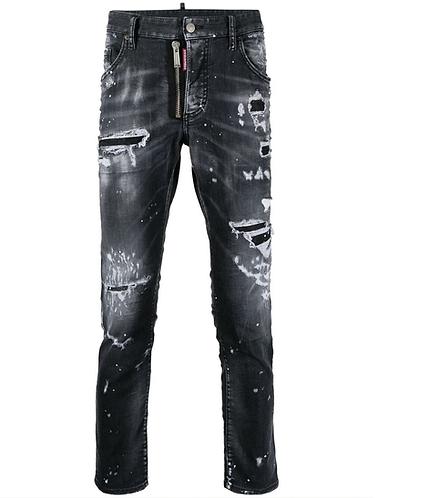 jean dsquared2 Black Ripped Wash D2 Skater Jeans s74lb0997s30503900