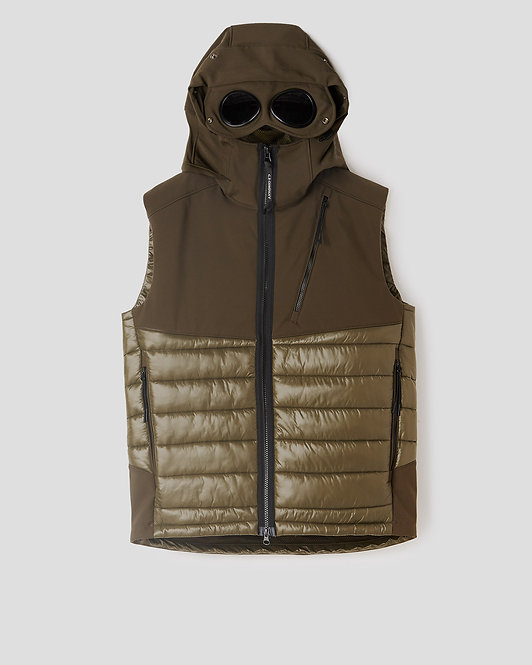 SLEEVELESS CP COMPANY C.P. Shell Mixed Padded Goggle Vest 09CMOW050A005784M683