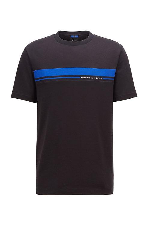 T-shirt en coton à col rond avec imprimé emblématique de la collection Hugo Boss Modèle Tiburt 227_PS - 50450788