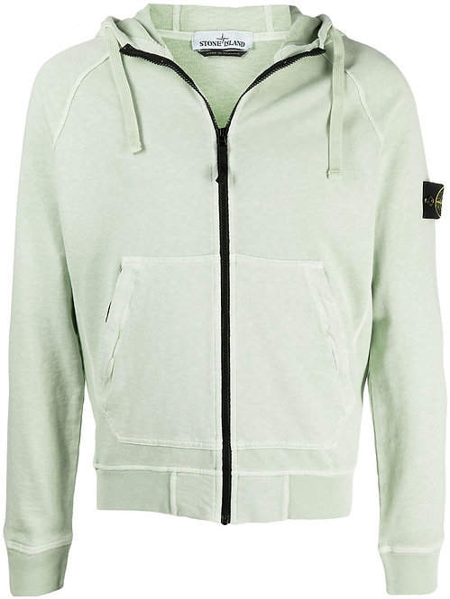 Sweat-shirt zippé à capuche stone island 61560 T.CO 'OLD' 741561560 v0152