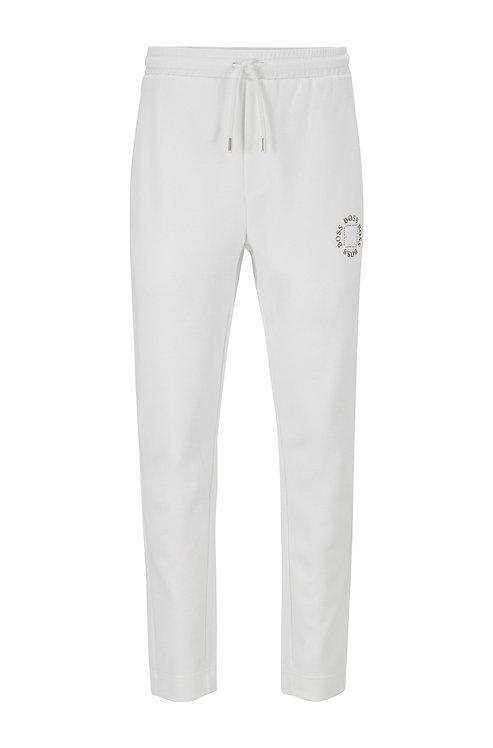 HUGO BOSS Pantalon de survêtement Regular Fit avec logo métallisé à effet superposé Modèle Halboa Circle - 50423599 112