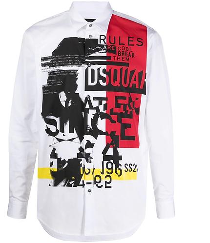 chemise dsquared2 D2 Punk Print Shirt S71DM0466S36275100
