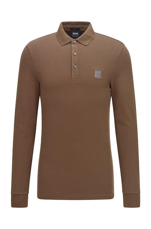 POLO HUGO BOSS MODÈLE PASSERBY 1 - 50462783 Polo Slim Fit à manches longues et badge logo