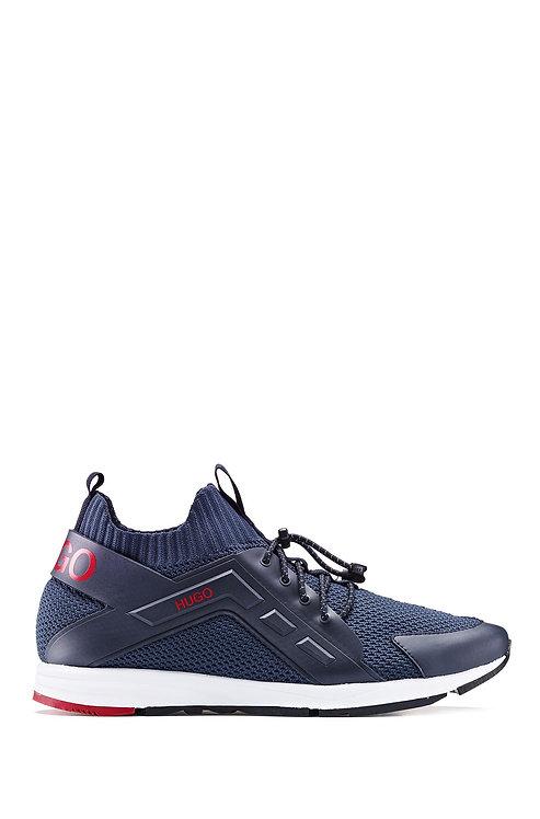 HUGO Baskets à logo hybrides avec une chaussette en maille Modèle Hybrid_Runn_kncg - 50433050