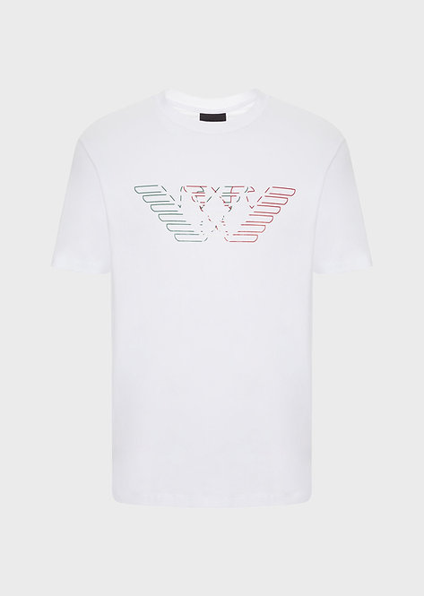 T-shirt emporio armani en jersey avec aigles tricolores 3H1T711J11Z10100