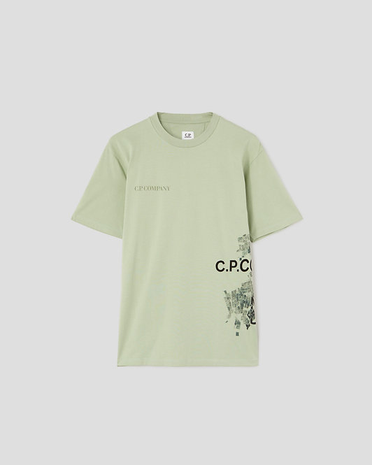 tshirt cp company 24/1 Jersey Mutated Camo Wrap Graphic T-Shirt 10CMTS307A005621W631