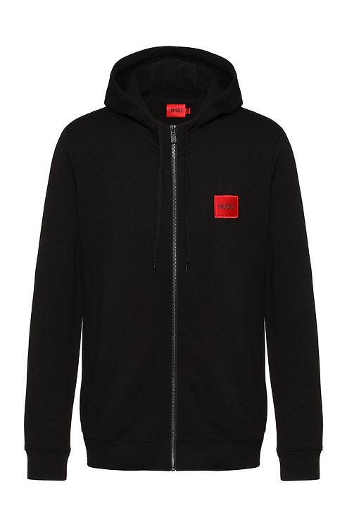 Sweat zippé en molleton de coton avec patch logo MODÈLE DAPLE212 - 50447972