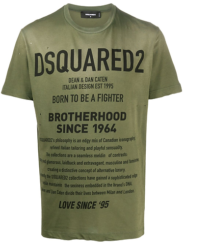 Fighter T-Shirt dsquared2 S71GD0960S21600703